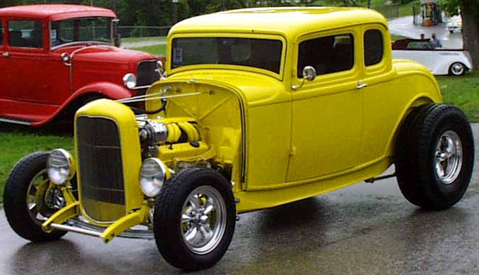 32 Ford Chopped Hiboy 5W Coupe