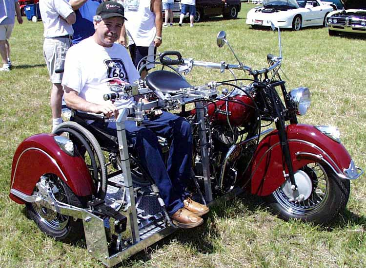 47 Indian Motorcycle w/sidecar