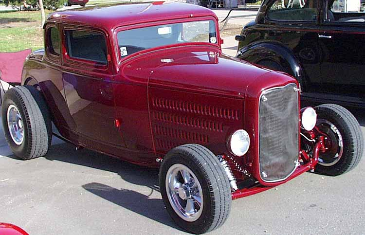 32 Ford Chopped 5W Hiboy Coupe
