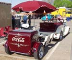 34 Ford Cabriolet w/Coke Trailer